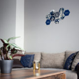 Een hexagon collage in je woonkamer